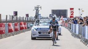 骑自行车者标记卡文迪许 免版税图库摄影