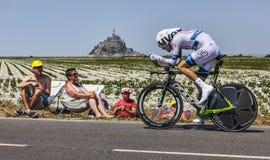 骑自行车者汤姆Dumoulin 库存图片