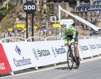 骑自行车者汤姆Leezer 库存图片
