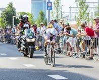 骑自行车者法比安・坎切拉拉-环法自行车赛2015年 免版税库存图片