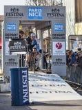 骑自行车者瑞克Flens-巴黎尼斯2013年序幕在Houilles 库存图片