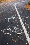骑自行车者的标志   库存图片