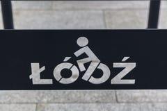 骑自行车者的罗兹 免版税图库摄影