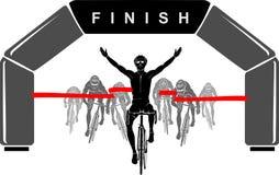 骑自行车者种族优胜者 免版税库存图片