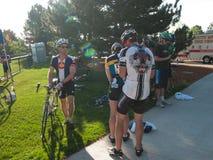 骑自行车者种族 库存照片