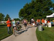骑自行车者种族 免版税库存照片