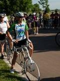 骑自行车者种族 免版税图库摄影