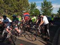 骑自行车者种族 免版税库存图片