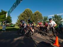 骑自行车者种族 图库摄影