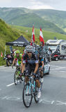 骑自行车者米哈拉Kwiatkowski -环法自行车赛2014年 免版税库存照片