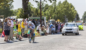 骑自行车者约翰尼斯Fröhlinger 免版税库存图片
