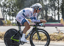 骑自行车者约翰Degenkolb 免版税图库摄影