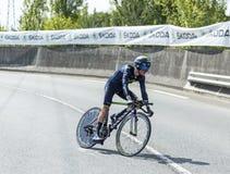 骑自行车者约翰Gadret-环法自行车赛2014年 免版税库存图片