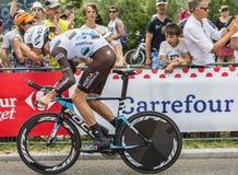 骑自行车者约翰Vansummeren -环法自行车赛2015年 图库摄影