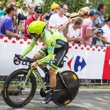 骑自行车者纳丹Haas -环法自行车赛2015年 免版税库存图片