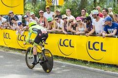 骑自行车者纳丹Haas -环法自行车赛2015年 库存照片