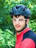骑自行车者纵向 免版税库存照片