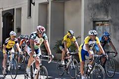 骑自行车者编组前辈 免版税库存图片