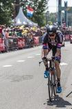 骑自行车者罗伊Curvers -环法自行车赛2015年 免版税库存图片