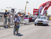 骑自行车者罗伊Curvers 库存图片