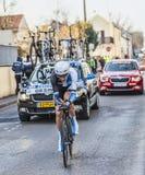 骑自行车者罗伯特Gesink-巴黎尼斯2013年序幕在Houilles 免版税图库摄影