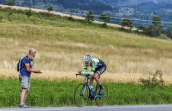 骑自行车者罗伯特Gesink 库存图片