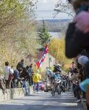 骑自行车者罗迈因Bardet -巴黎好2016年 免版税库存图片