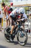 骑自行车者罗迈因Bardet -环法自行车赛2015年 库存照片