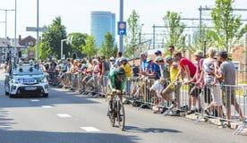 骑自行车者罗迈因Sicard -环法自行车赛2015年 免版税库存图片