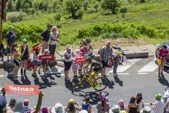 骑自行车者罗迈因Sicard -环法自行车赛2016年 库存图片