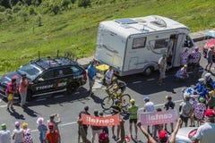 骑自行车者罗迈因Sicard -环法自行车赛2016年 免版税库存照片