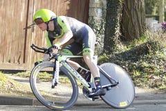 骑自行车者美国人安德鲁Talansky 免版税库存图片