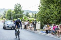 骑自行车者耶稣Herrada卢佩茨-环法自行车赛2014年 免版税图库摄影
