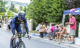 骑自行车者耶稣Herrada卢佩茨-环法自行车赛2014年 库存图片