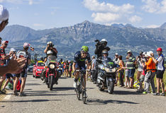 骑自行车者芮阿尔贝托・科斯塔 库存照片