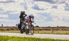 骑自行车者范Den Broeck于尔根 图库摄影