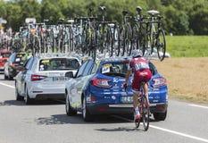 骑自行车者蒂亚戈马查多-环法自行车赛2017年 免版税库存图片