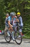 骑自行车者西尔万Chavanel-彻尔du Granier 2012年 库存照片