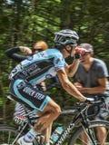 骑自行车者西尔万Chavanel-彻尔du Granier 2012年 免版税库存图片
