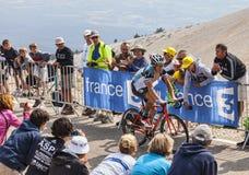 骑自行车者西尔万Chavanel 库存图片