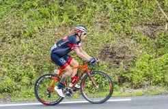 骑自行车者西尔万Chavanel 免版税图库摄影