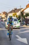 骑自行车者西蒙Gerrans-巴黎尼斯2013年序幕在Houilles 库存图片