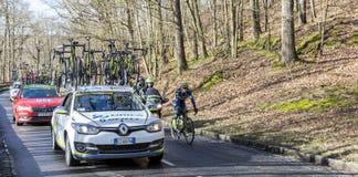 骑自行车者西蒙Gerrans -巴黎好2017年 库存图片