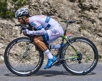 骑自行车者西蒙Geschke 免版税库存图片