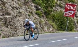 骑自行车者西蒙Geschke 免版税库存照片