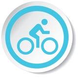 骑自行车者象 免版税库存照片