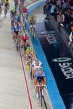 骑自行车者跟踪 免版税库存图片