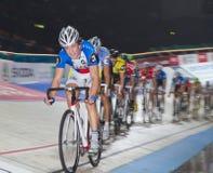 骑自行车者跟踪 免版税库存照片