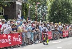 骑自行车者路卡Paolini -环法自行车赛2015年 库存照片