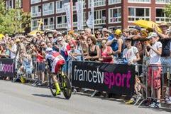 骑自行车者路卡Paolini -环法自行车赛2015年 免版税库存图片